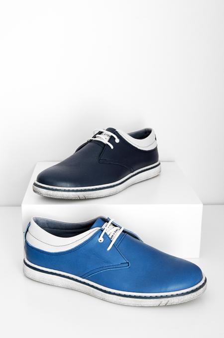 δερμάτινο τζην μπλε καθημερινό παπούτσι