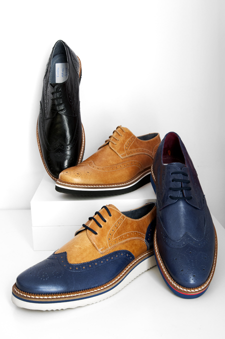 δερμάτινο (μπλε, ταμπά, μαύρο) καθημερινό παπούτσι
